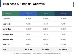 Business And Financial Analysis Ppt Infographic Template Example Introduction