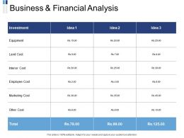 Business And Financial Analysis Ppt Powerpoint Presentation Image