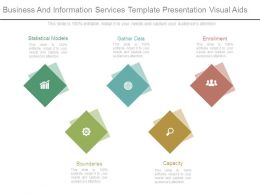 Business And Information Services Template Presentation Visual Aids