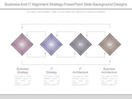 Business And It Alignment Strategy Powerpoint Slide Background Designs