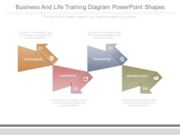 Business And Life Training Diagram Powerpoint Shapes