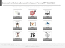 Business And Marketing Concepts For Account Planning Ppt Examples
