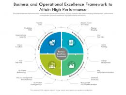 business and operational excellence framework to attain high performance