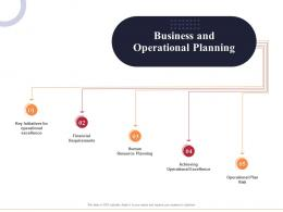 Business And Operational Planning Marketing And Business Development Action Plan Ppt Microsoft