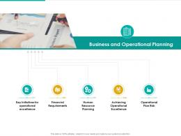 Business And Operational Planning Resource Planning Ppt Model Infographic Template