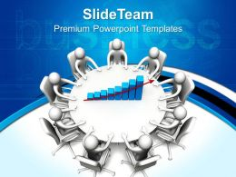 Business And Strategy Templates Round Table Meeting Graphic Ppt Slides Powerpoint