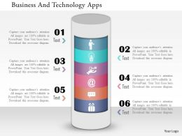 Business And Technology Apps Powerpoint Template