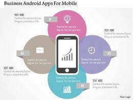 Business Android Apps For Mobile Flat Powerpoint Design