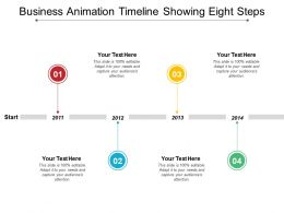 Business Animation Timeline Showing Eight Steps