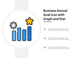 Business Annual Goal Icon With Graph And Star
