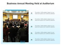 Business Annual Meeting Held At Auditorium