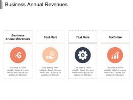 Business Annual Revenues Ppt Powerpoint Presentation Gallery Background Images Cpb