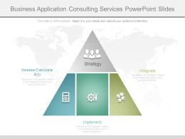 Business Application Consulting Services Powerpoint Slides