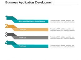 Business Application Development Ppt Powerpoint Presentation File Aids Cpb
