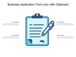 Business Application Form Icon With Clipboard