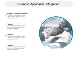 Business Application Integration Ppt Powerpoint Presentation Ideas Files Cpb