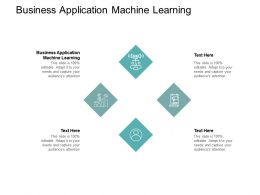 Business Application Machine Learning Ppt Powerpoint Presentation Infographics Graphics Design Cpb