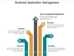 Business Application Management Ppt Powerpoint Presentation File Brochure Cpb