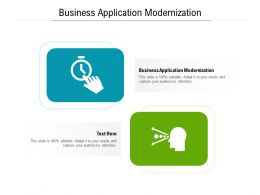Business Application Modernization Ppt Powerpoint Presentation Model Elements Cpb