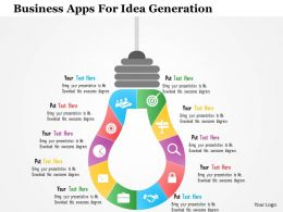 Business Apps For Idea Generation Flat Powerpoint Design