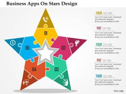 Business Apps On Stars Design Flat Powerpoint Design