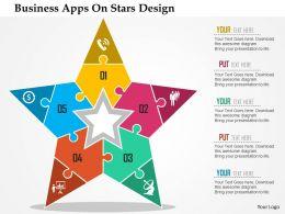 business_apps_on_stars_design_flat_powerpoint_design_Slide01