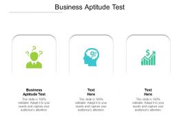 Business Aptitude Test Ppt Powerpoint Presentation Summary Icons Cpb