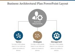 Business Architectural Plan Powerpoint Layout