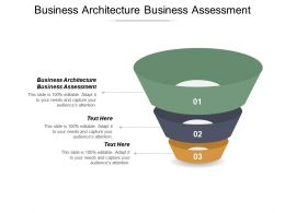 Business Architecture Business Assessment Ppt Powerpoint Presentation Show Cpb
