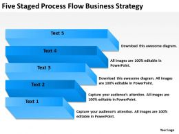 Business Architecture Diagram Five Staged Process Flow Strategy Powerpoint Templates 0515