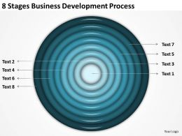 Business Architecture Diagrams 8 Stages Development Process Powerpoint Slides