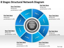 Business Architecture Diagrams 8 Stages Structural Network Powerpoint Slides