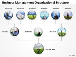Business Architecture Diagrams Management Organizational Structure Powerpoint Templates