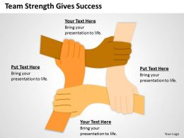 Business Architecture Diagrams Team Strength Gives Success Powerpoint Templates 0515