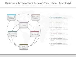 Business Architecture Powerpoint Slide Download