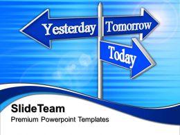 Business Architecture Presentations Future Signpost Metaphor Sales Ppt Slides Powerpoint