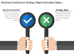 Business Architecture Strategy Maps Information Maps Analysis Need