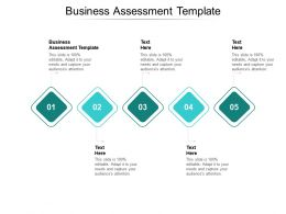 Business Assessment Template Ppt Powerpoint Presentation Professional Graphics Pictures Cpb