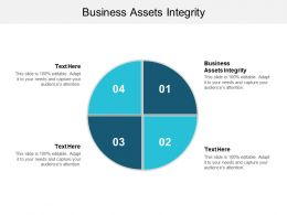 Business Assets Integrity Ppt Powerpoint Presentation File Design Ideas Cpb