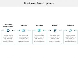 Business Assumptions Ppt Powerpoint Presentation File Ideas Cpb
