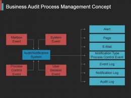 Business Audit Process Management Concept Powerpoint Guide