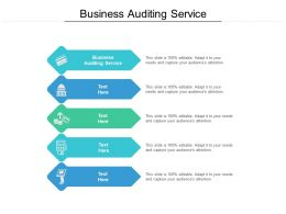Business Auditing Service Ppt Powerpoint Presentation Professional Infographics Cpb
