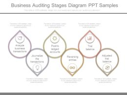 Business Auditing Stages Diagram Ppt Samples