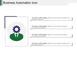 Business Automation Icon Powerpoint Layout