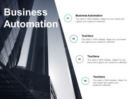 Business Automation Ppt Powerpoint Presentation Ideas Brochure Cpb
