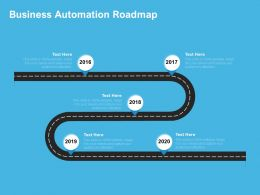 Business Automation Roadmap 2016 To 2020 Years Ppt Powerpoint Presentation Outline
