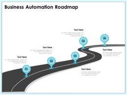Business Automation Roadmap M1981 Ppt Powerpoint Presentation Outline Format