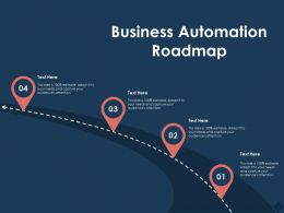 Business Automation Roadmap M761 Ppt Powerpoint Presentation Show Icons