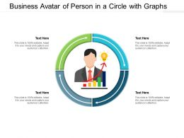 Business Avatar Of Person In A Circle With Graphs