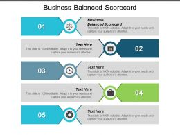 Business Balanced Scorecard Ppt Powerpoint Presentation Inspiration Smartart Cpb